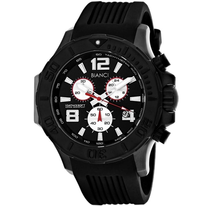 Roberto Bianci Men's RB55052 Aulia Chronograph Black Silicone Watch