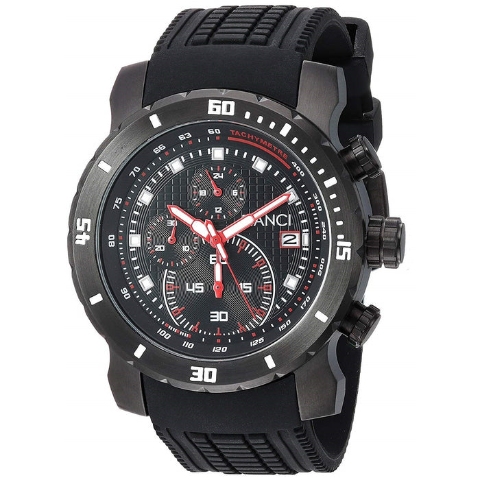 Roberto Bianci Men's RB55070 Classico Chronograph Black Silicone Watch