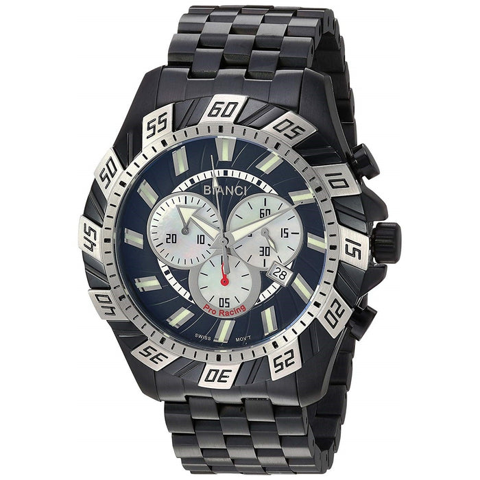 Roberto Bianci Men's RB70603 Valentino Chronograph Black Stainless Steel Watch