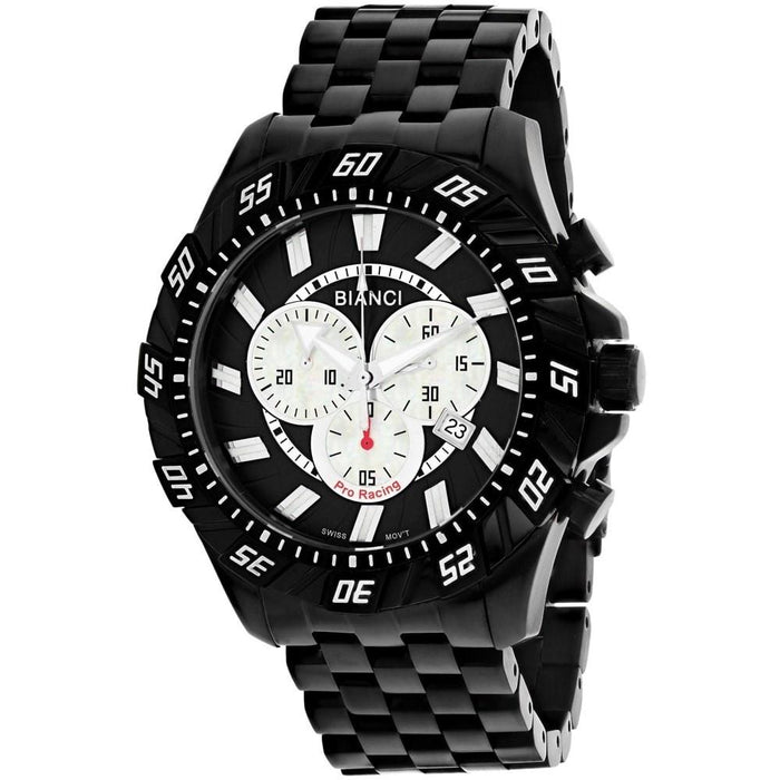 Roberto Bianci Men's RB70604 Valentino Chronograph Black Stainless Steel Watch