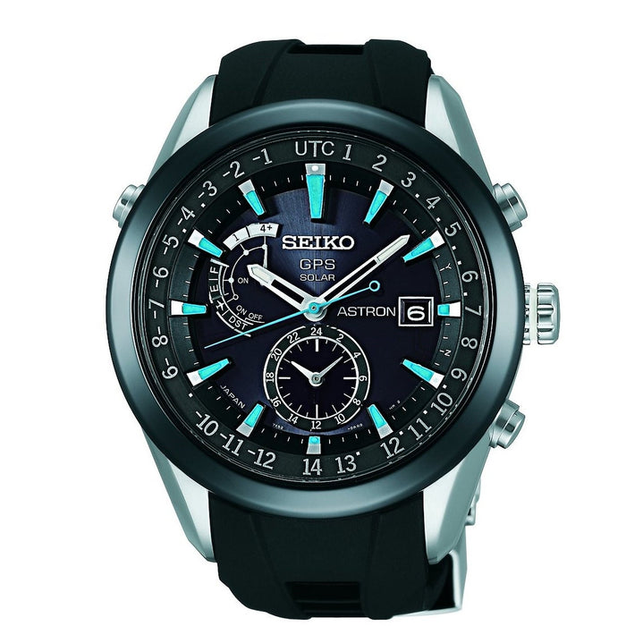 Seiko Men's SAST009 Astron GPS Solar Limited Edition Two-Tone Silicone Watch