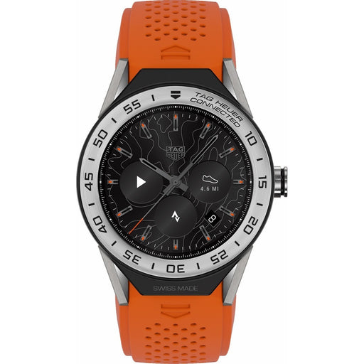 Tag Heuer Men's SBF8A8014.11FT6081 Connected Modular 45 Chronograph Orange Rubber Watch