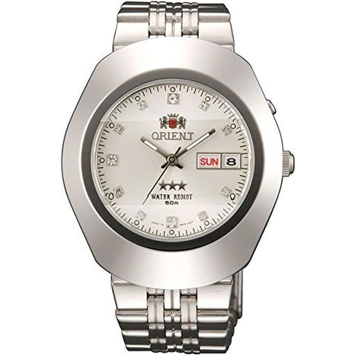Orient Men's SEM70005W8 Tri Star Crystal Automatic Stainless Steel Watch