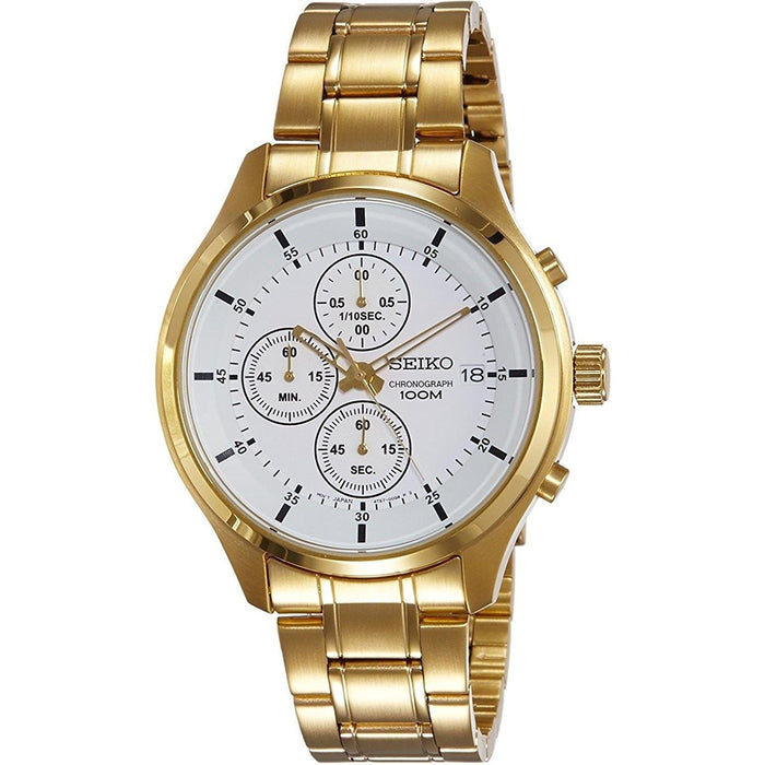 Seiko Men's SKS544 Chronograph Gold-Tone Stainless Steel Watch
