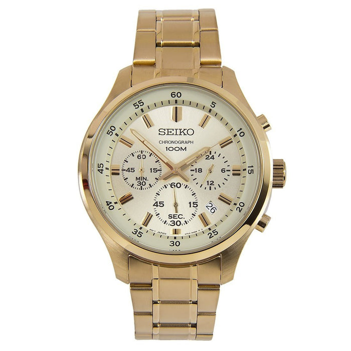Seiko Men's SKS592 Chronograph Gold-Tone Stainless Steel Watch