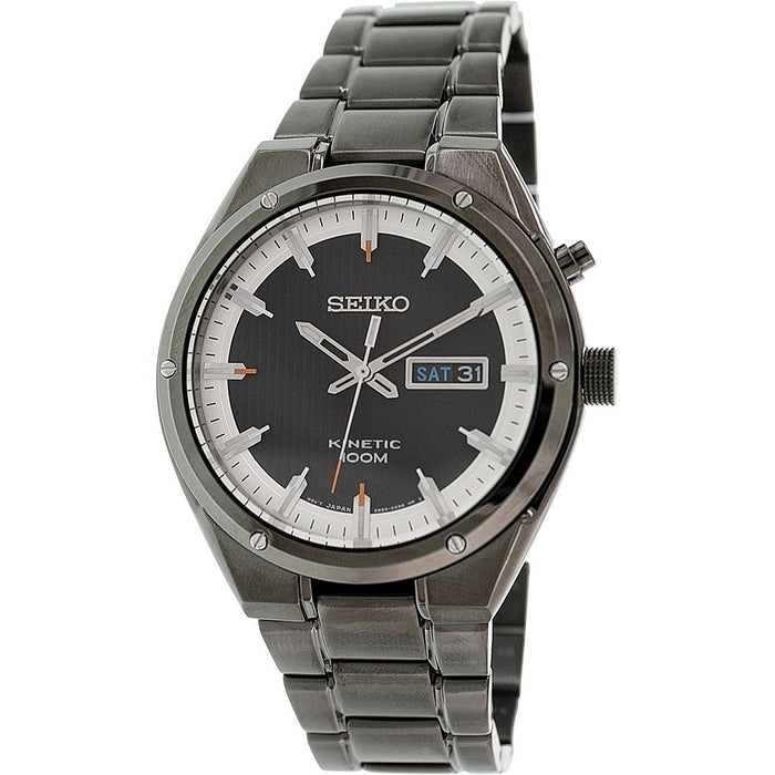 Seiko Men's SMY153 Kinetic Black Stainless Steel Watch