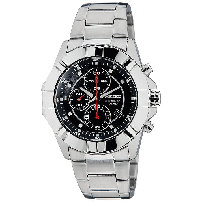 Seiko Men's SNDD73 Chronograph Black Stainless Steel Watch