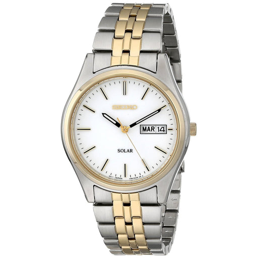 Seiko Men's SNE032 Solar Two-Tone Stainless Steel Watch