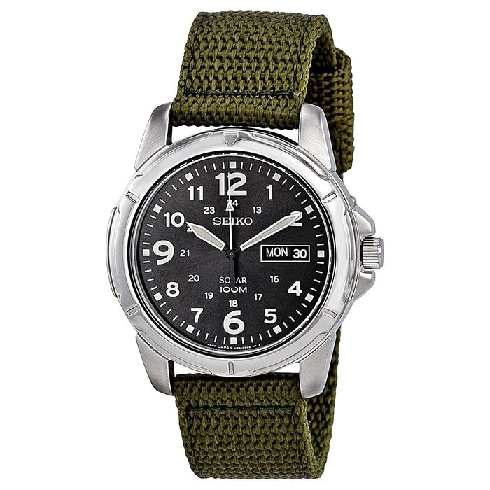 Seiko Men's SNE095P2 Solar Green Nylon Watch