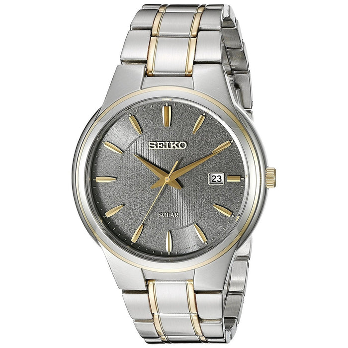 Seiko Men's SNE404 Solar Two-Tone Stainless Steel Watch