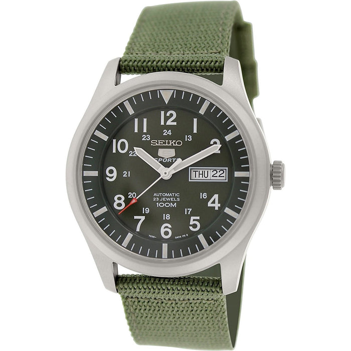 Seiko Men's SNZG09 5 Automatic Green Canvas Watch