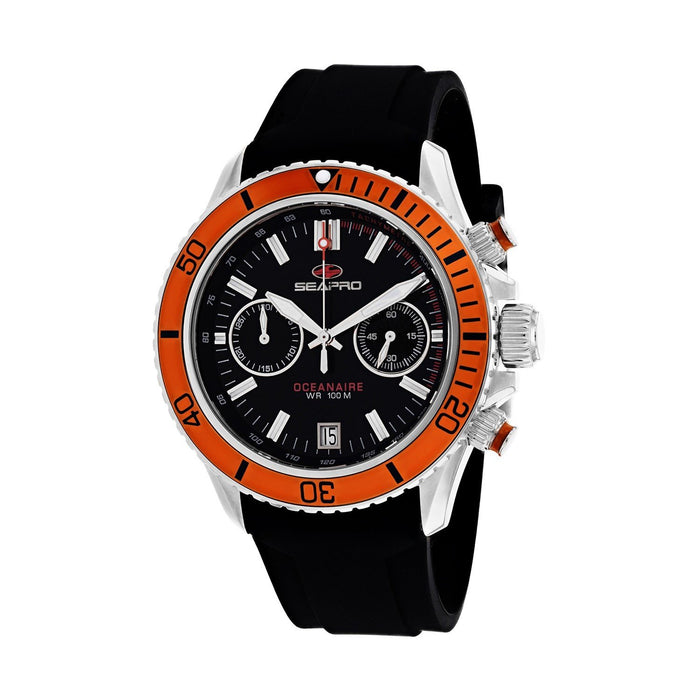 Seapro Men's SP0334 Thrash Chronograph Black Silicone Watch