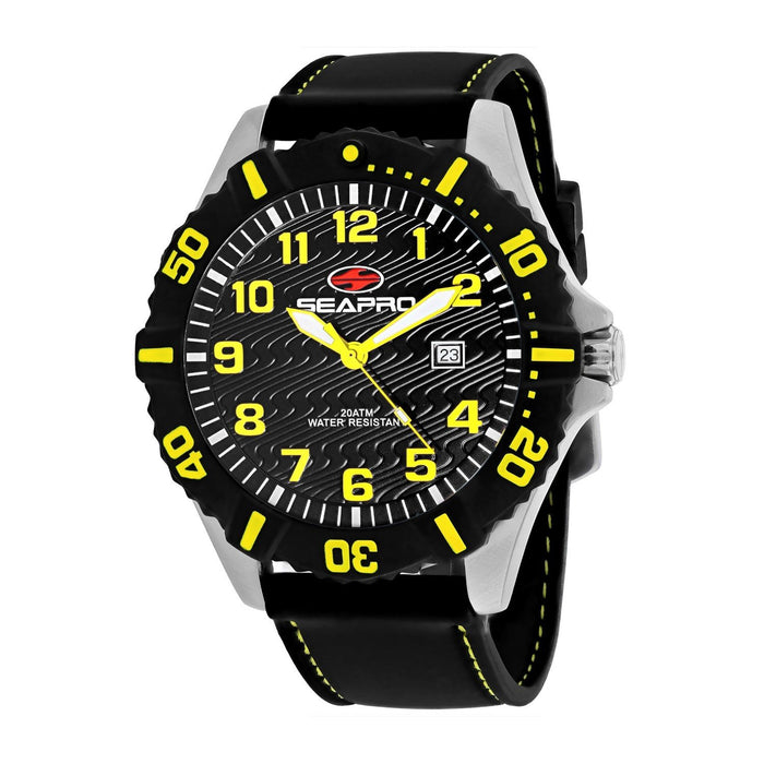 Seapro Men's SP1512 Trooper Black Silicone Watch