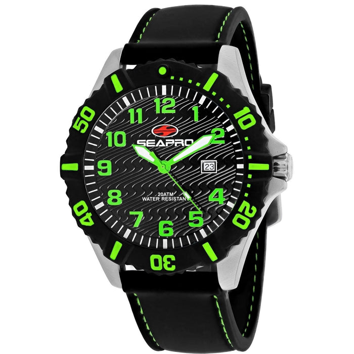 Seapro Men's SP1513 Trooper Black Silicone Watch