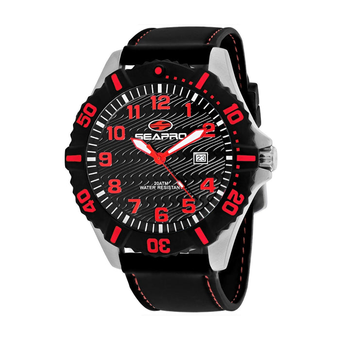 Seapro Men's SP1514 Trooper Black Silicone Watch