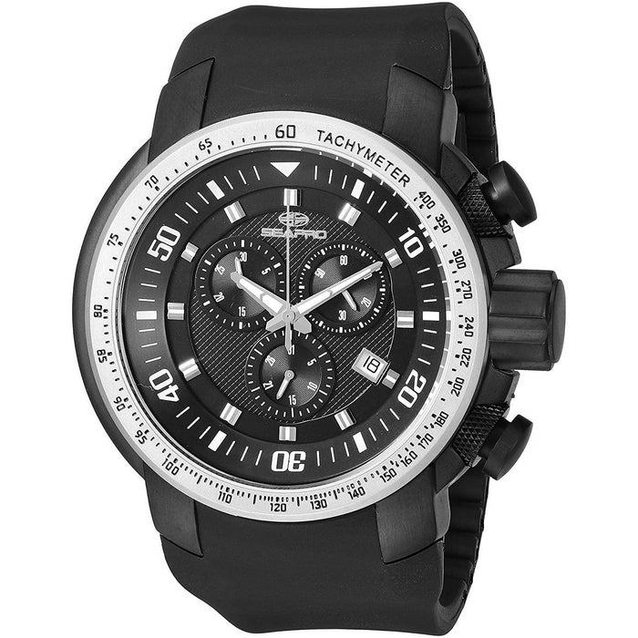 Seapro Men's SP7121 Imperial Chronograph Black Silicone Watch