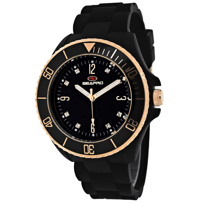Seapro Women's SP7412 Sea Bubble Black Silicone Watch