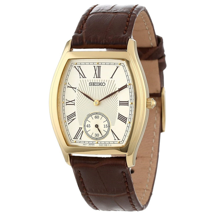 Seiko Men's SRK008 Seiko Quartz Brown Leather Watch
