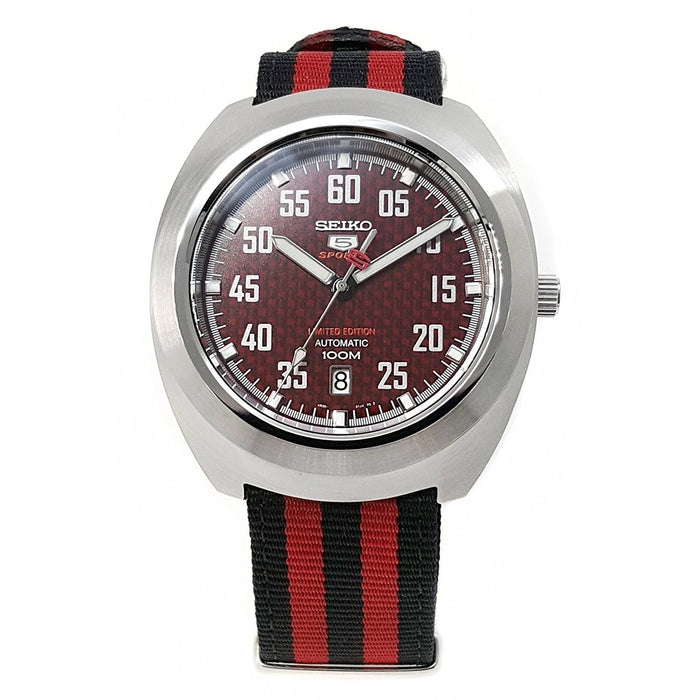Seiko Men's SRPA87 5 Limited Edition Automatic Red and Black Canvas Watch