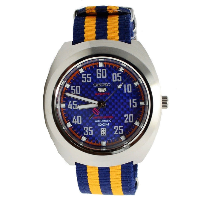 Seiko Men's SRPA91 5 Limited Edition Automatic Yellow and Blue Canvas Watch