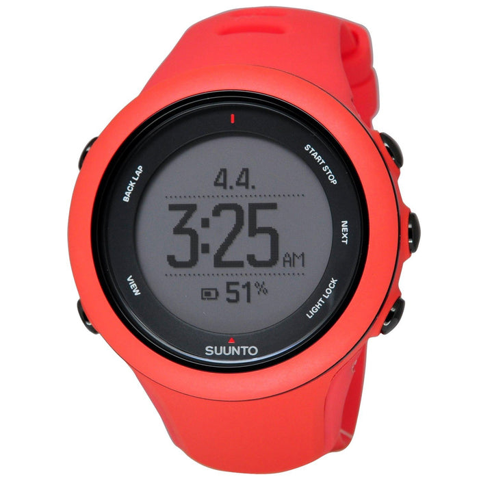 Suunto Women's SS021468000 Ambit3 Digital Red Silicone Watch