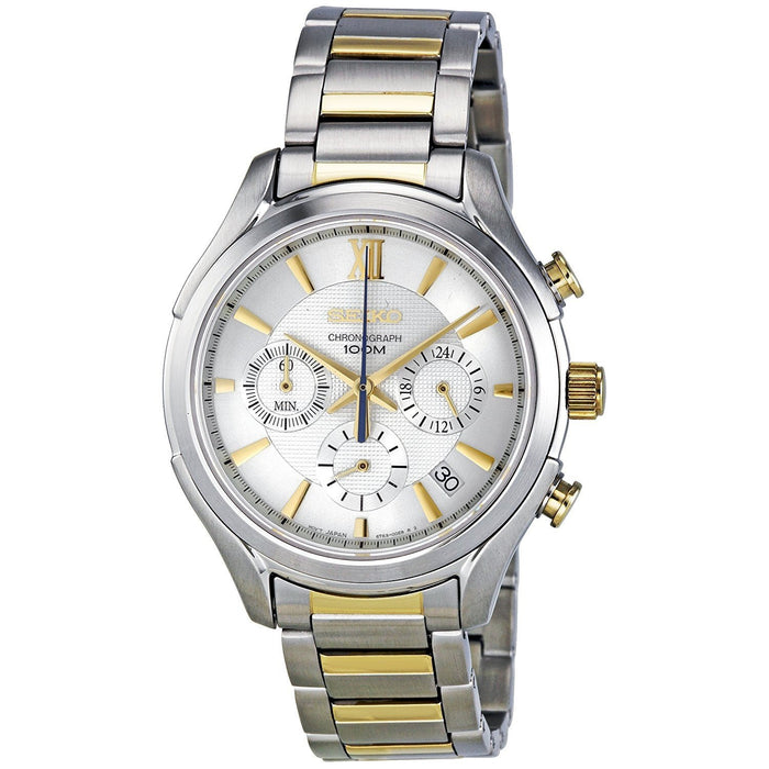Seiko Men's SSB021 Chronograph Two-Tone Stainless Steel Watch