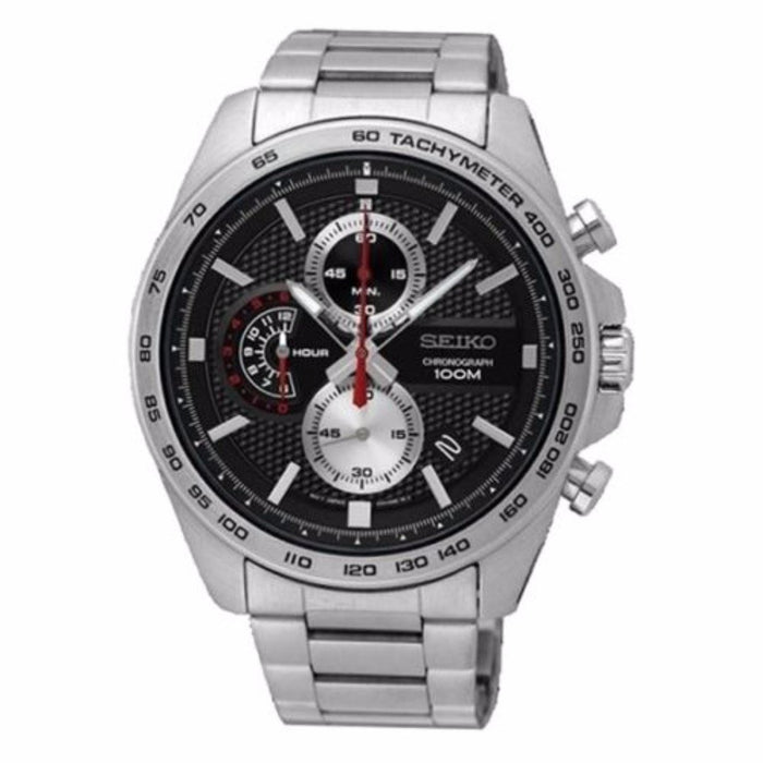 Seiko Men's SSB255 Chronograph Stainless Steel Watch
