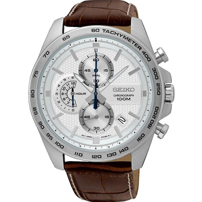 Seiko Men's SSB263 Chronograph Stainless Steel Watch