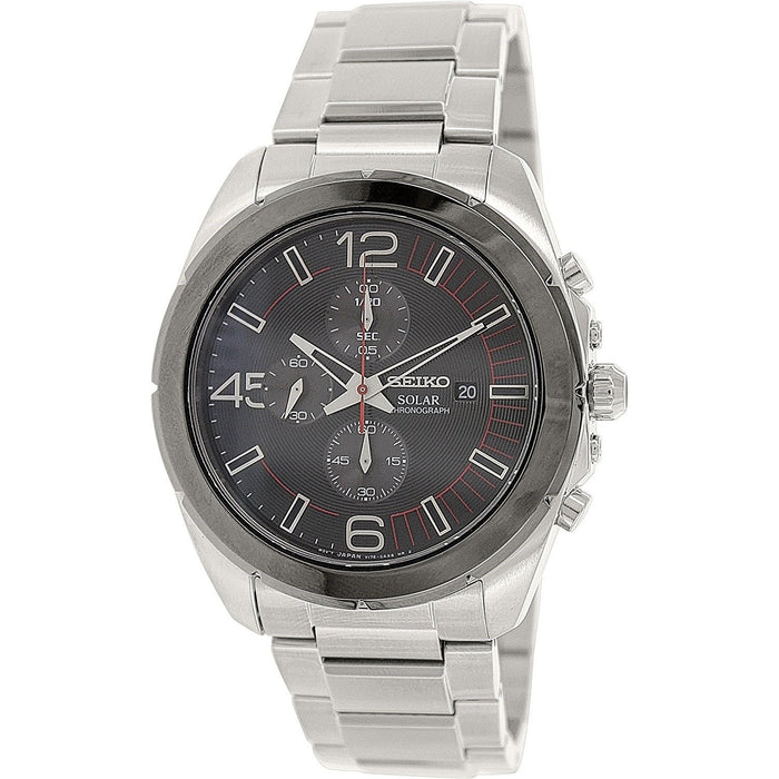 Seiko Men's SSC215 Solar Chronograph Stainless Steel Watch