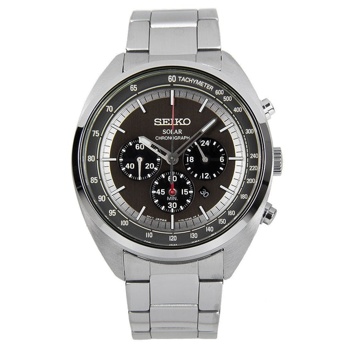 Seiko Men's SSC621 Solar Chronograph Stainless Steel Watch