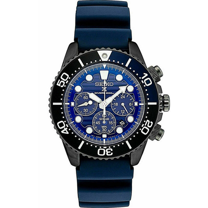 Seiko Men's SSC701 Prospex Blue Rubber Watch