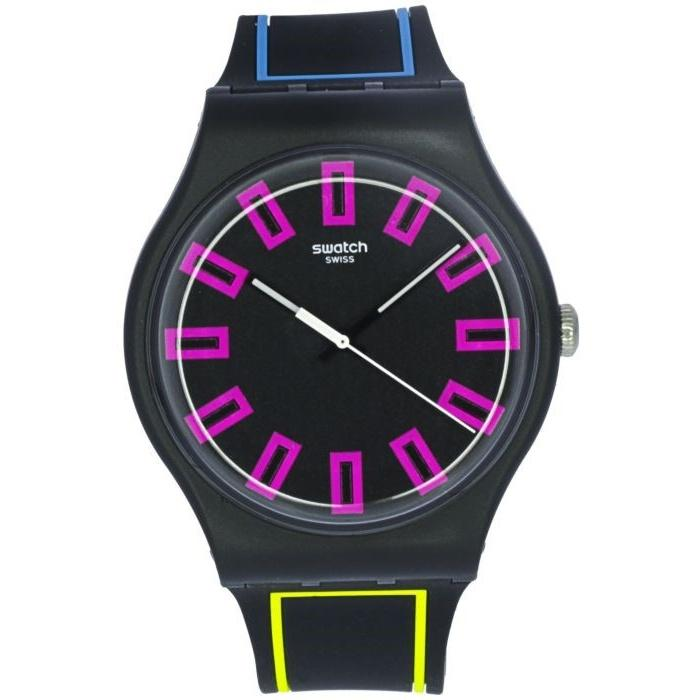 Swatch Unisex SUOB146 Two-Tone Silicone Watch