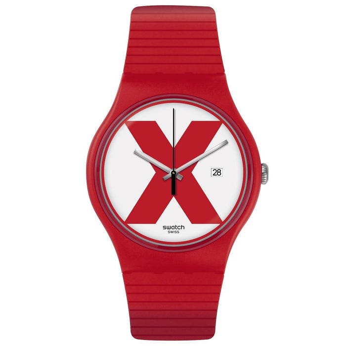Swatch Men's SUOR400 XX-Rated Red Silicone Watch