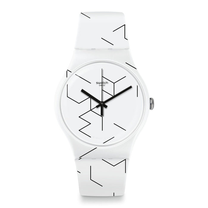 Swatch Unisex SUOW164 Meiro Two-Tone Silicone Watch