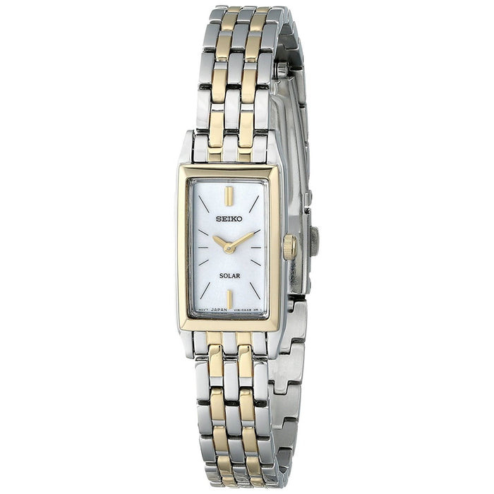 Seiko Women's SUP028 Solar Two-Tone Stainless Steel Watch