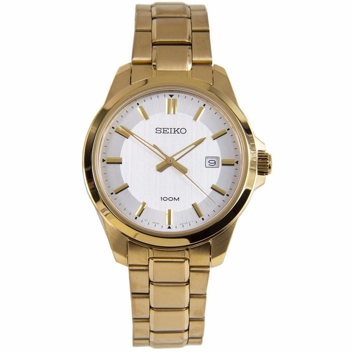 Seiko Men's SUR248 Gold-Tone Stainless Steel Watch