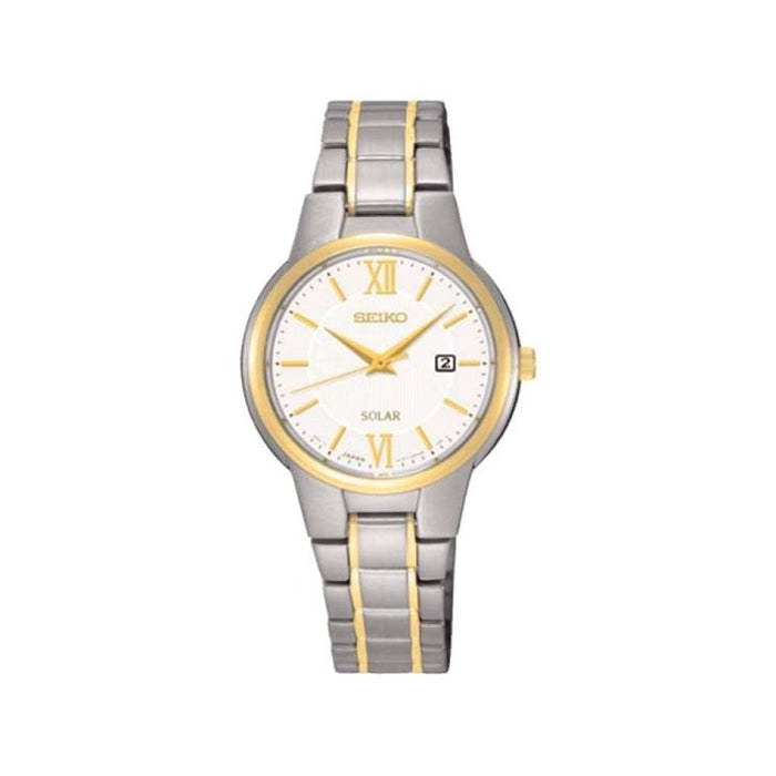 Seiko Women's SUT230 Solar Two-Tone Stainless Steel Watch