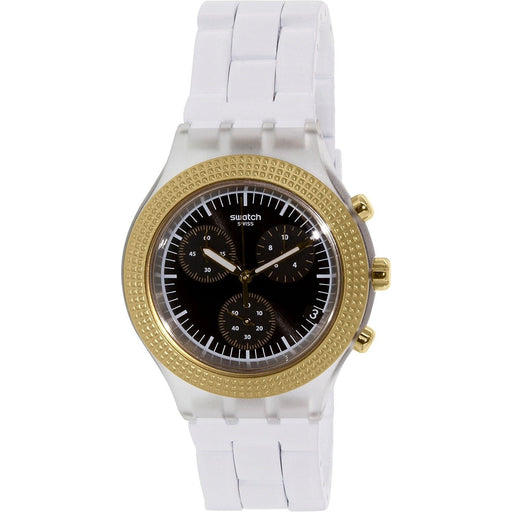 Swatch Men's SVCK4081AG Irony Chronograph White Plastic Watch