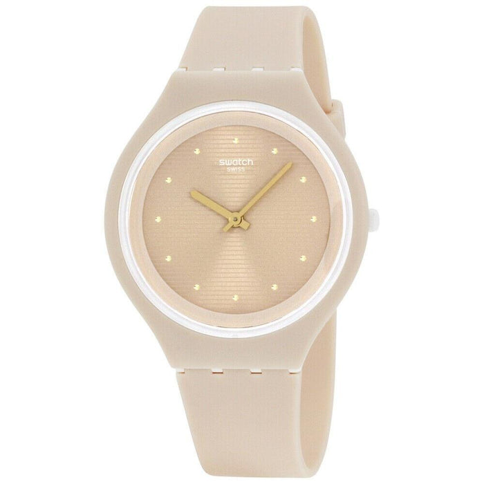 Swatch Women's SVUT100 Skin Pink Silicone Watch