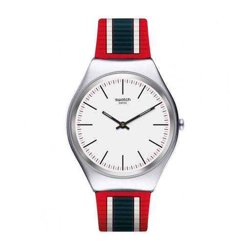 Swatch Men's SYXS114 Skinflag Multi-color Silicone Watch