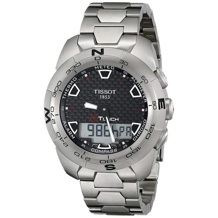 Tissot Men's T0134204420100 T-Touch Expert Analog-Digital Titanium Watch