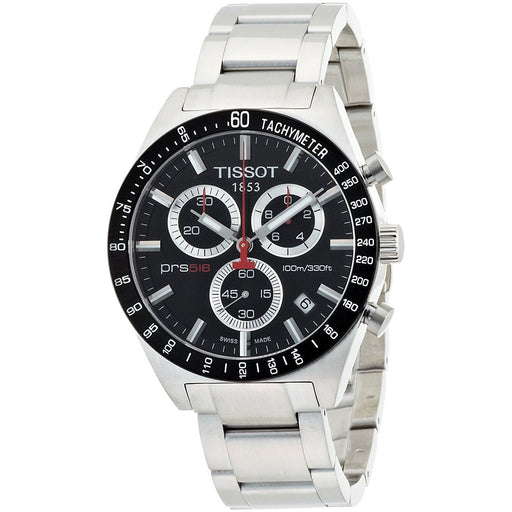 Tissot Men's T0444172105100 PRS 516 Chronograph Tachymeter Stainless Steel Watch