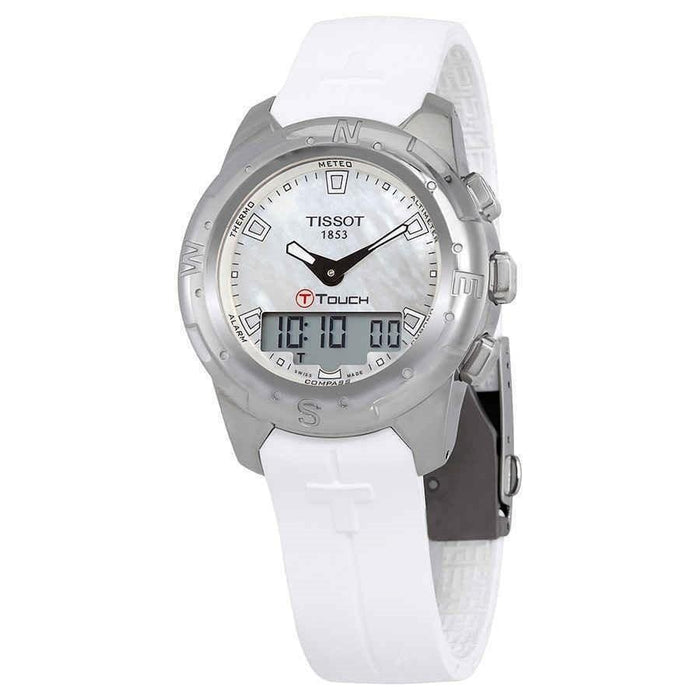 Tissot Women's T0472204711100 T-Touch II White Rubber Watch