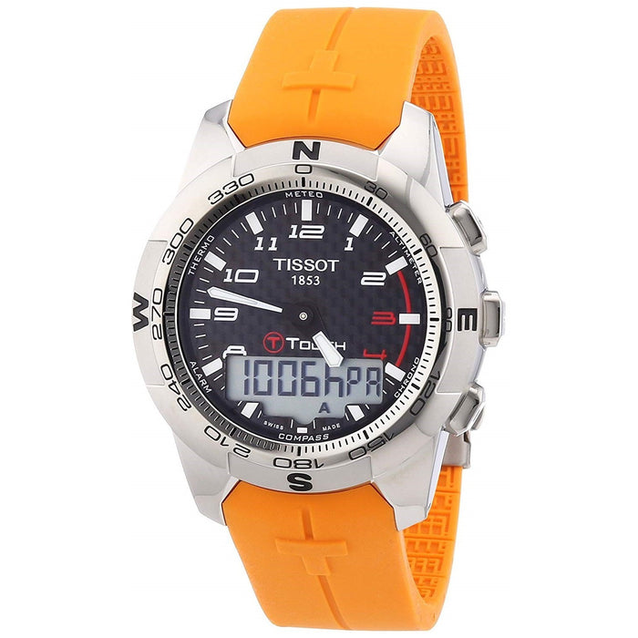 Tissot Men's T0474204720701 T-Touch II Analog-Digital Orange Rubber Watch