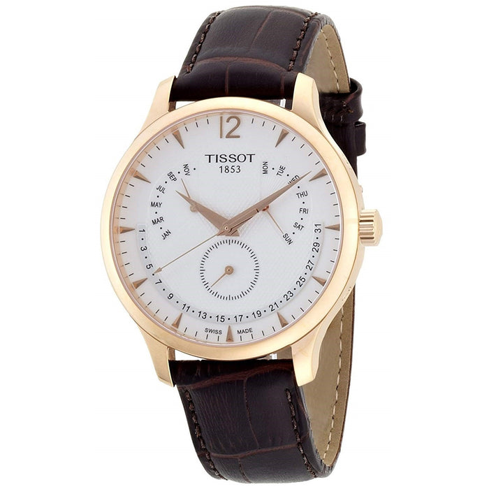 Tissot Men's T0636373603700 T-Tradition Multi-Function Brown Leather Watch