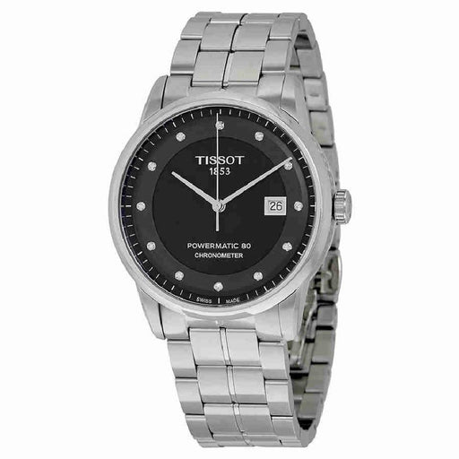 Tissot Men's T0864081105600 T-Classic Powermatic 80 Diamond Automatic Stainless Steel Watch