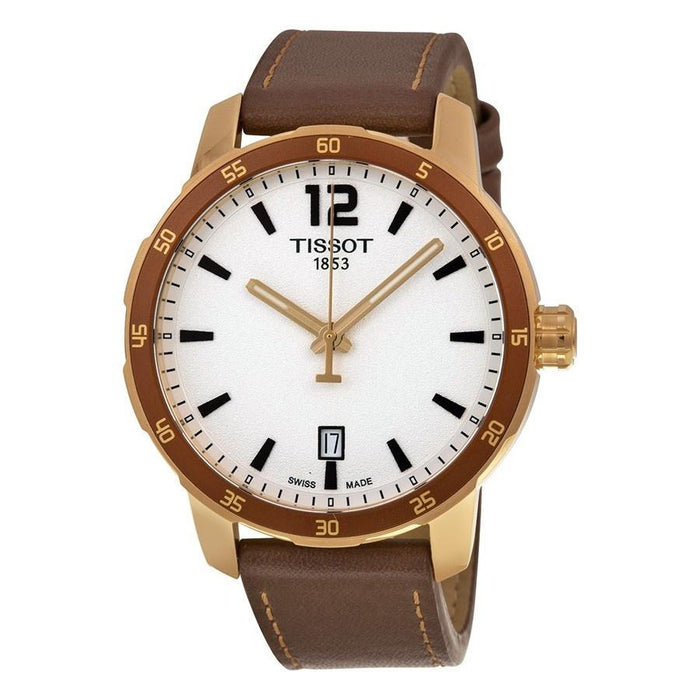 Tissot Men's T0954103603700 Quickster Brown Leather Watch