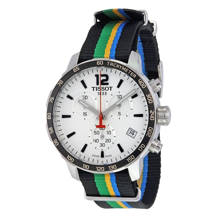 Tissot Men's T0954171703702 Quickster Limited Edition Baku 2015 Chronograph Colorful Canvas Watch