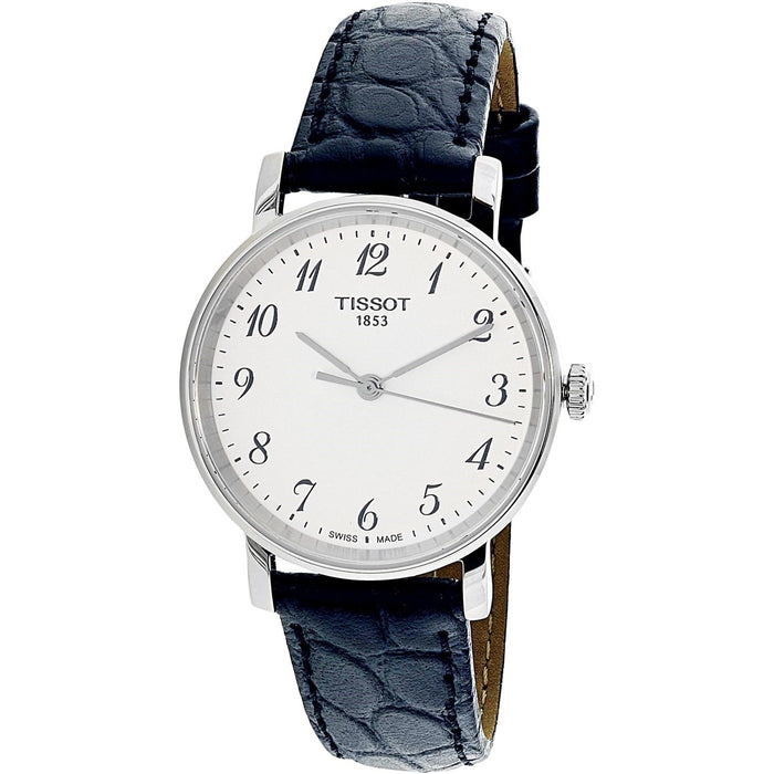 Tissot Women s T1092101603200 T-Everytime Small Black Leather Watch ... 681facd58f
