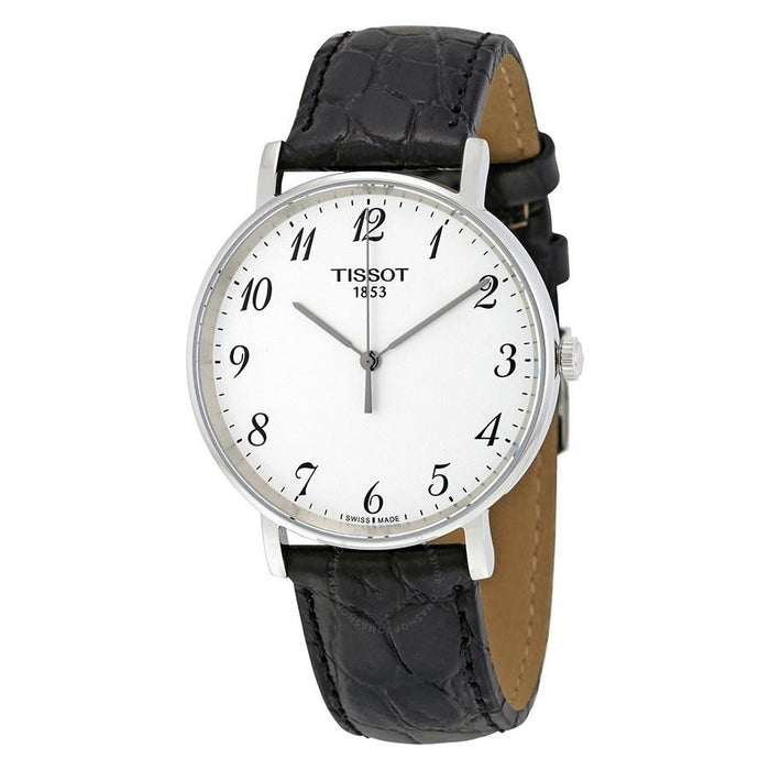 Tissot Men's T1094101603200 T-Classic Everytime Black Leather Watch